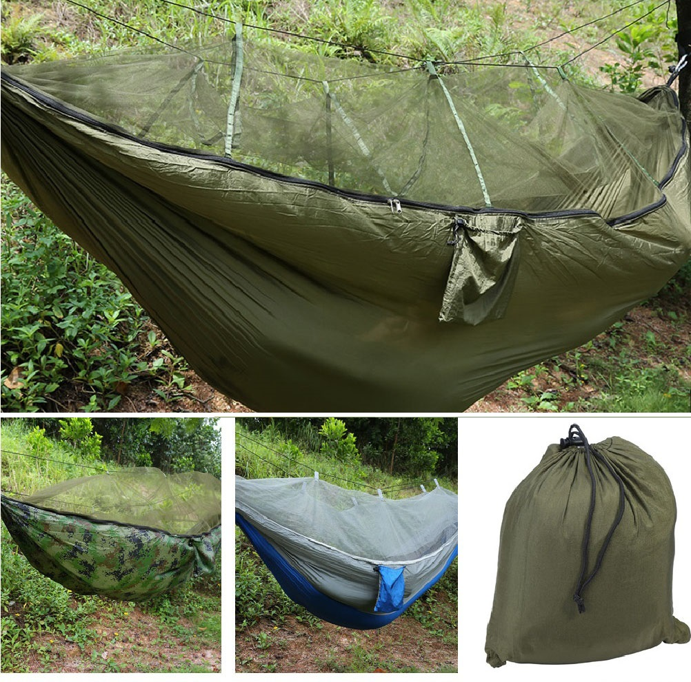 2 person jungle hammock tent w mosquito   camping survival travel hanging bed 2 person jungle hammock tent w mosquito   camping survival      rh   ebay