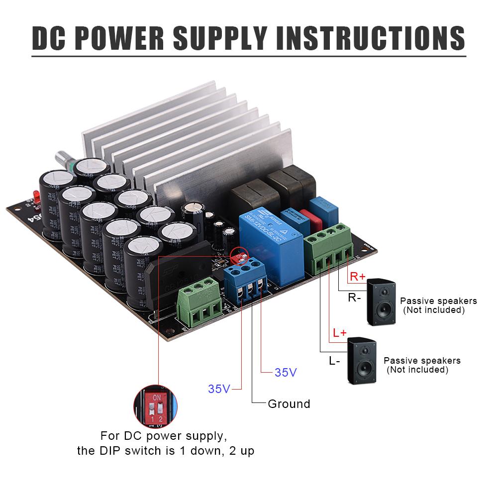Tda8954 Hifi 210w2 High Power Digital Amplifier Dual Channel Audio Circuit Board China Amp Tb