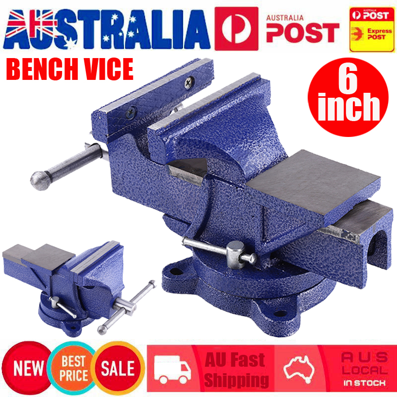 heavy duty table bench vise grip clamp steel cast mechanic workshop