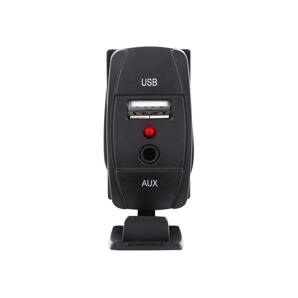 Mllse 3 5mm Aux Extension Cable Lead Mounting Panel Dash: Car Dash Flush Mount USB Port 3.5mm AUX Extension Cable