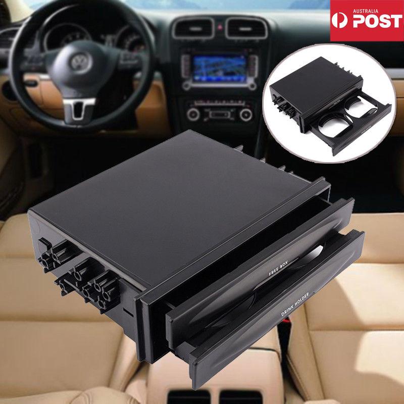 Universal Car Auto Double Din Radio Pocket Drink Cup Holder /& Storage Drawer Box