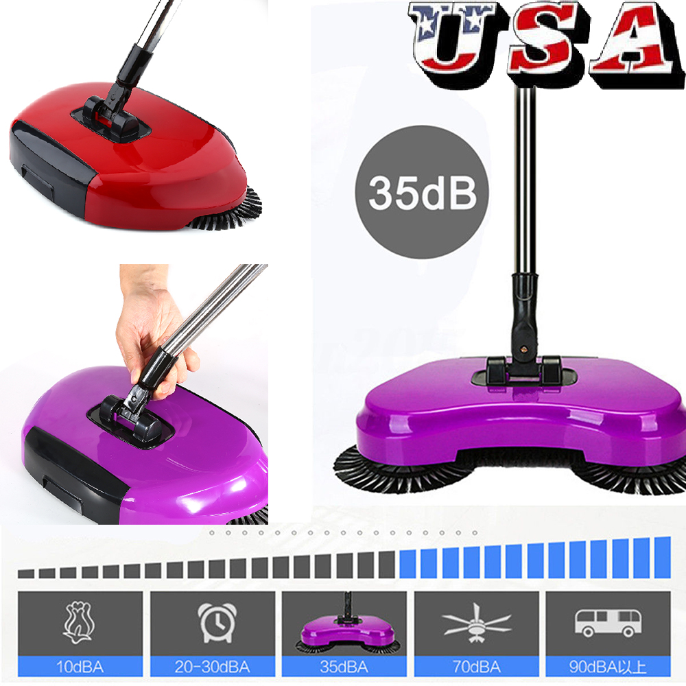 Hand Push Broom Household Floor Dust Cleaning Sweeper Mop