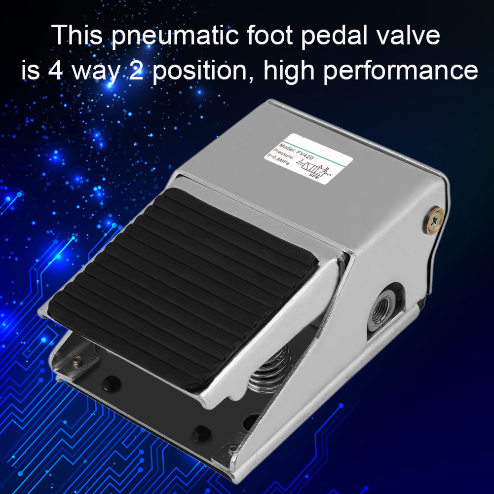 1pc G1 4 Foot Operated Pedal Valve Way 2 Position Air Pneumatic Switch Fv 420