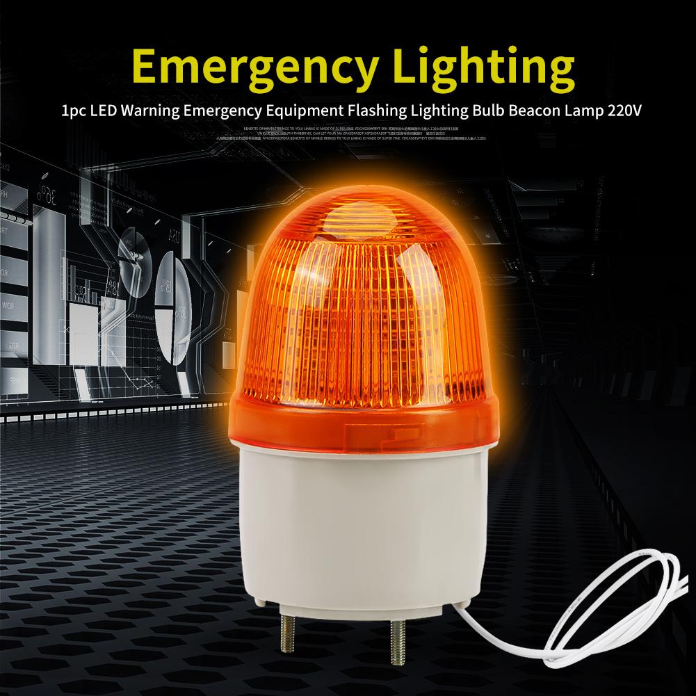 1pc Led Warning Emergency Equipment Flashing Lighting Bulb Beacon Power 220v Lamp Details