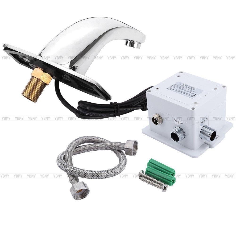 automatisch wasserhahn bad armatur waschtisch sensorarmatur mit infrarot sensor ebay. Black Bedroom Furniture Sets. Home Design Ideas