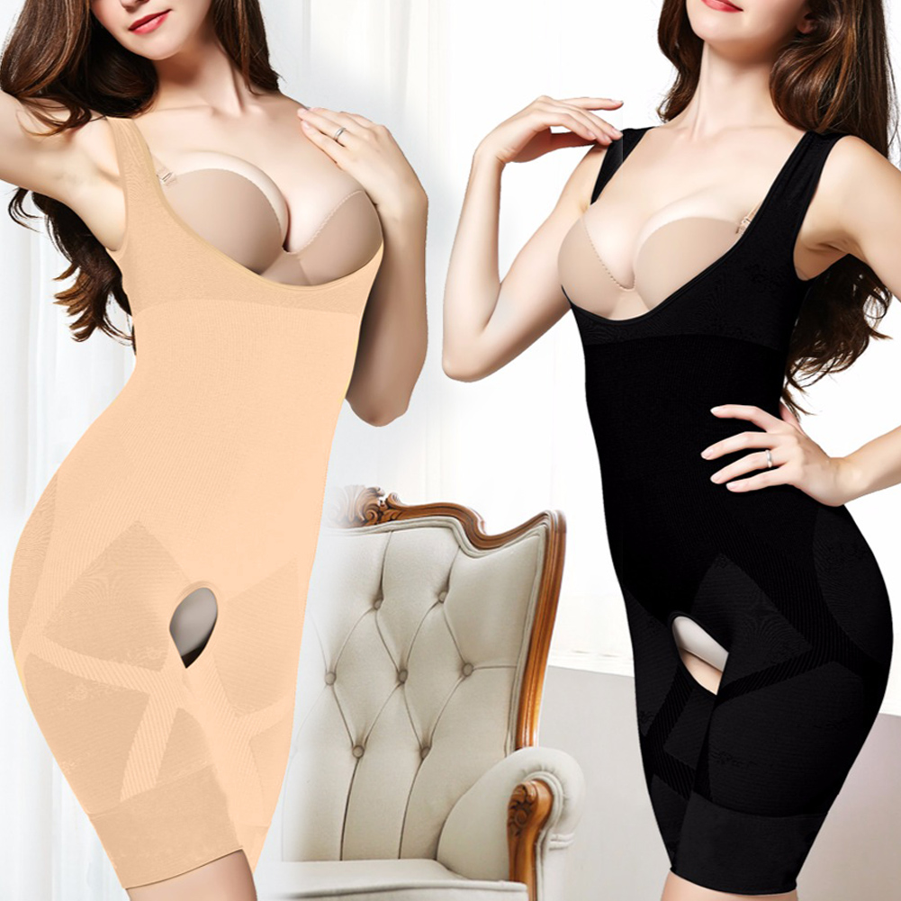 4bbbeab137 Womens Full Body Waist Trainer Shape Underbust Corset Shapewear Bodysuit  2Colors