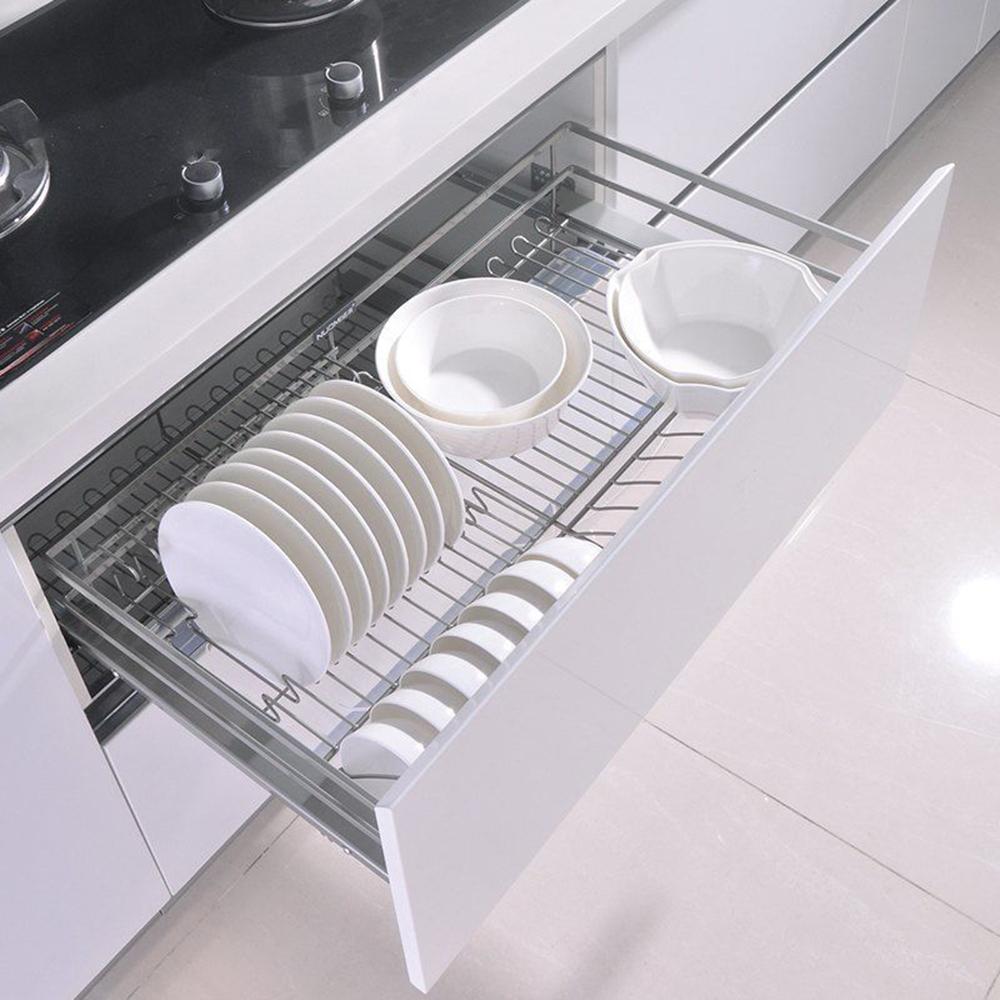 Kitchen Pull-Out Wire Sliding Cabinet Storage Organizer Drawer Shelf ...