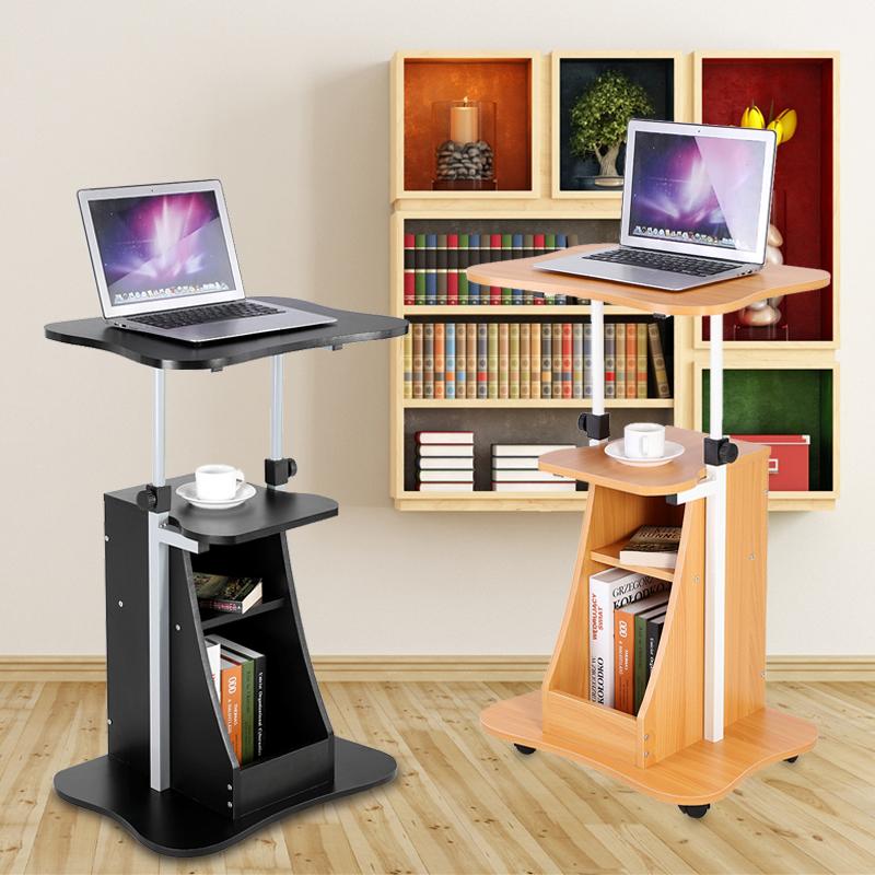Schreibtisch computertisch pc tisch arbeitstisch b rotisch for Schreibtisch mit rollen