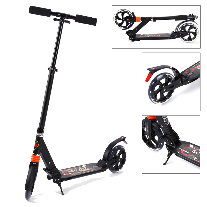 scooter roller tretroller cityroller klappbar 200mm r der. Black Bedroom Furniture Sets. Home Design Ideas