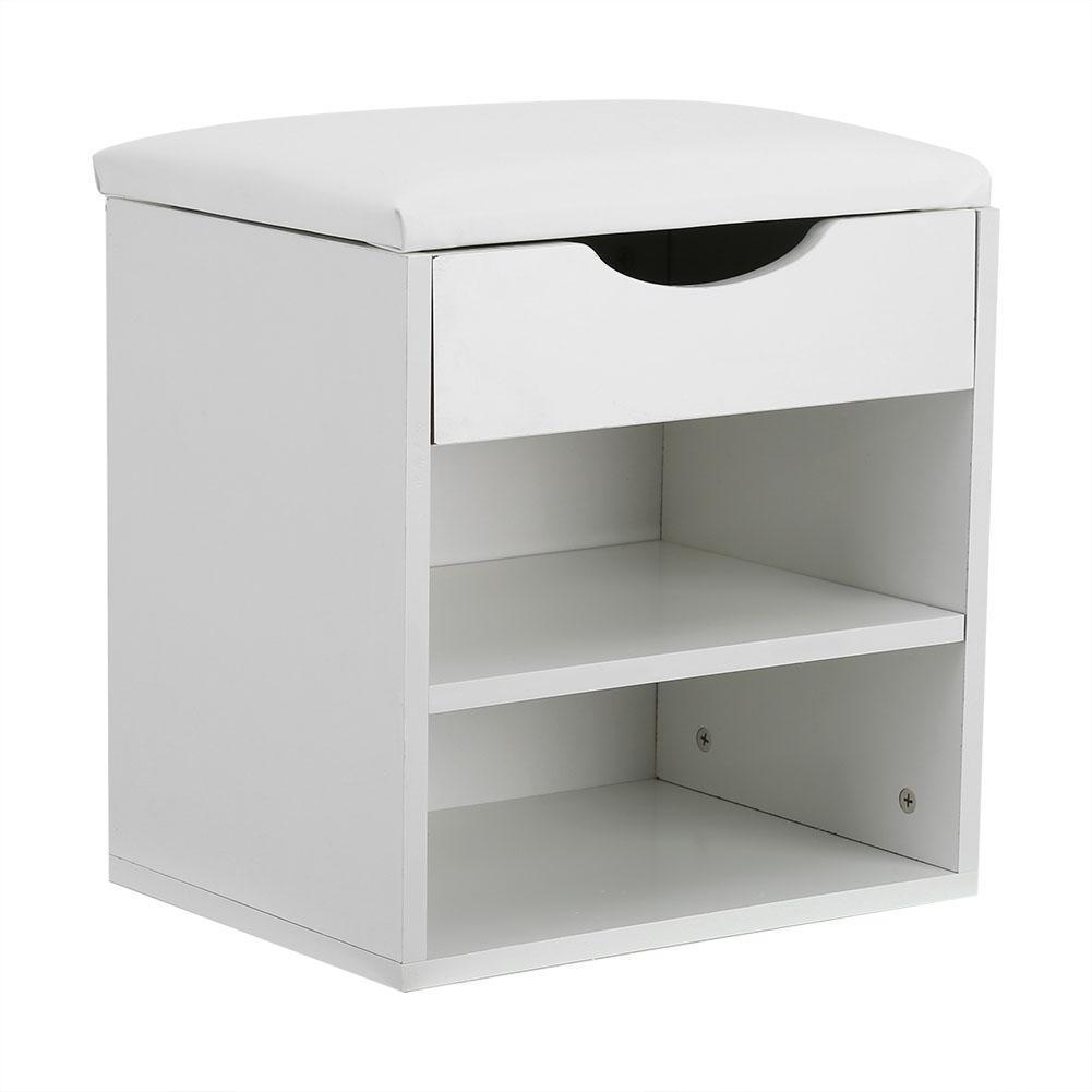 schuhschrank schuhregal mit sitzkissen stiefel ablage schuhbank 40x30x42cm wei ebay. Black Bedroom Furniture Sets. Home Design Ideas