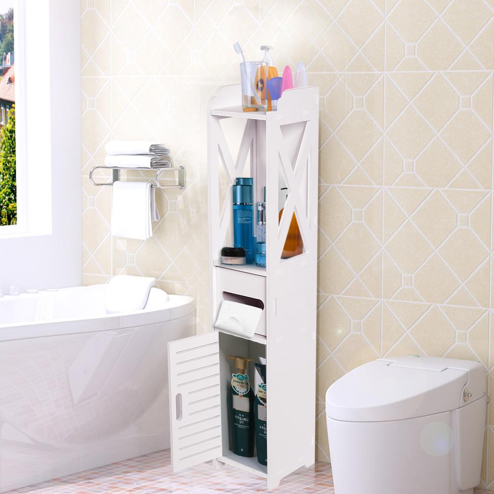 Bathroom Storage Space Saving Cabinet Kitchen Laundry Shelf ...