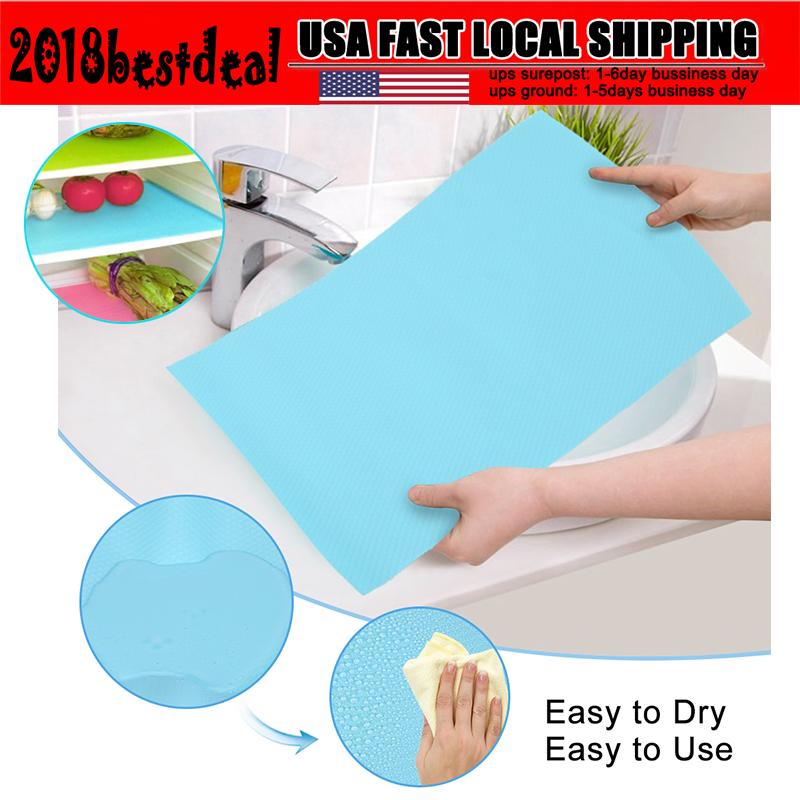 Refrigerator Fridge Mat Pad Drawer Liners Washable Kitchen Waterproof Shelf JR