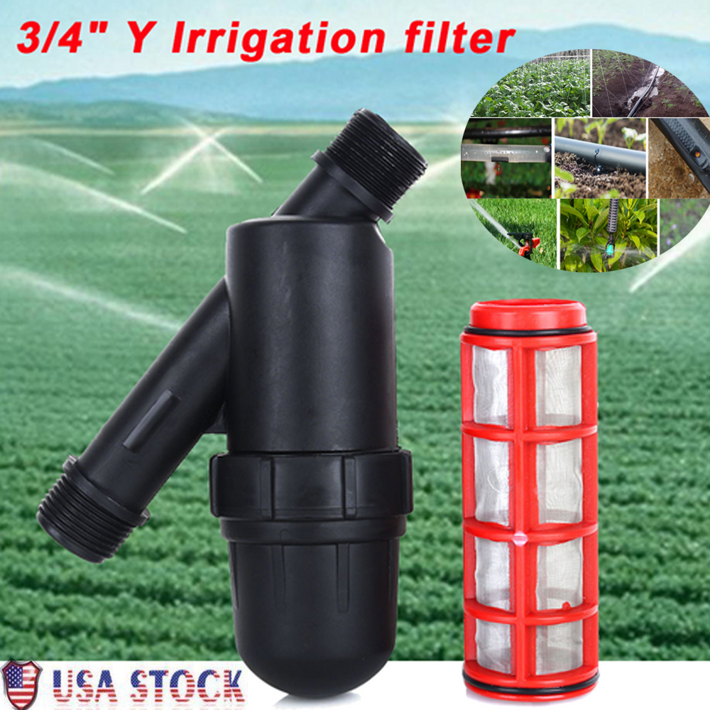 """3//4/"""" Y Irrigation Water Filter 120 PSI for Agricultural Garden Drip Strainer US"""