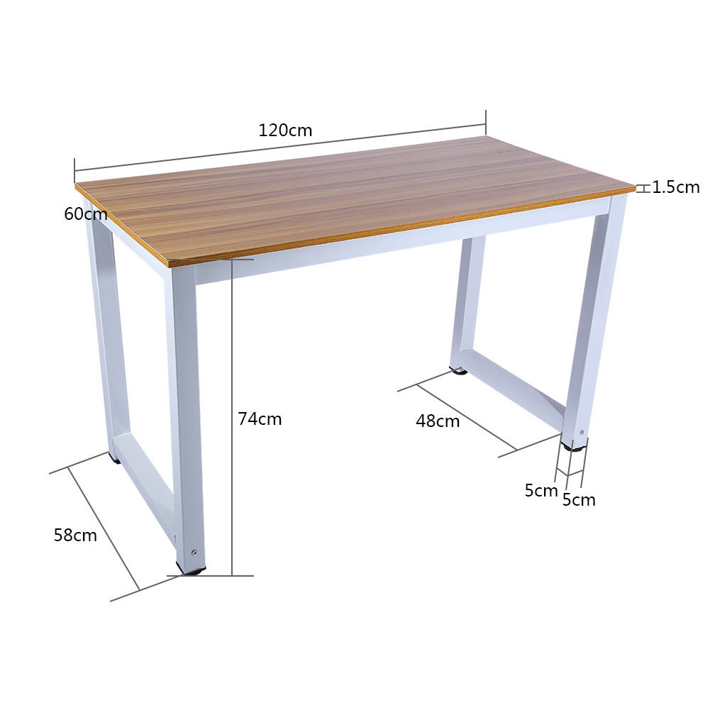 computertisch schreibtisch b ro arbeitstisch pc laptoptisch holz metall hot ebay. Black Bedroom Furniture Sets. Home Design Ideas