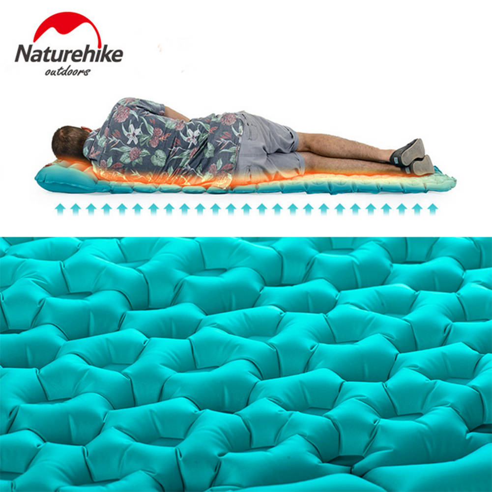 Double Thin Inflatable Air Mattress Sleeping Pad Bed