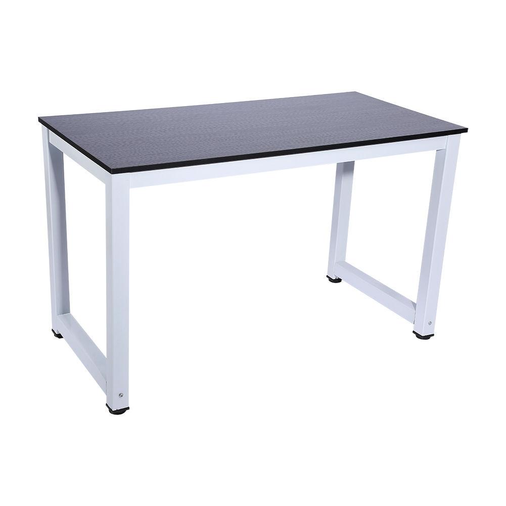 computertisch schreibtisch arbeitstisch laptop tisch holz metall 120 60 74cm ebay. Black Bedroom Furniture Sets. Home Design Ideas