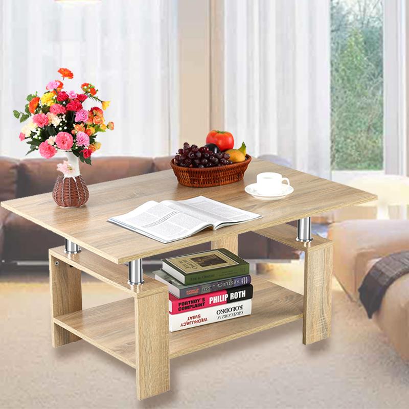 couchtisch beistelltisch wohnzimmertisch mit ablage sofa tisch holztisch net ebay. Black Bedroom Furniture Sets. Home Design Ideas