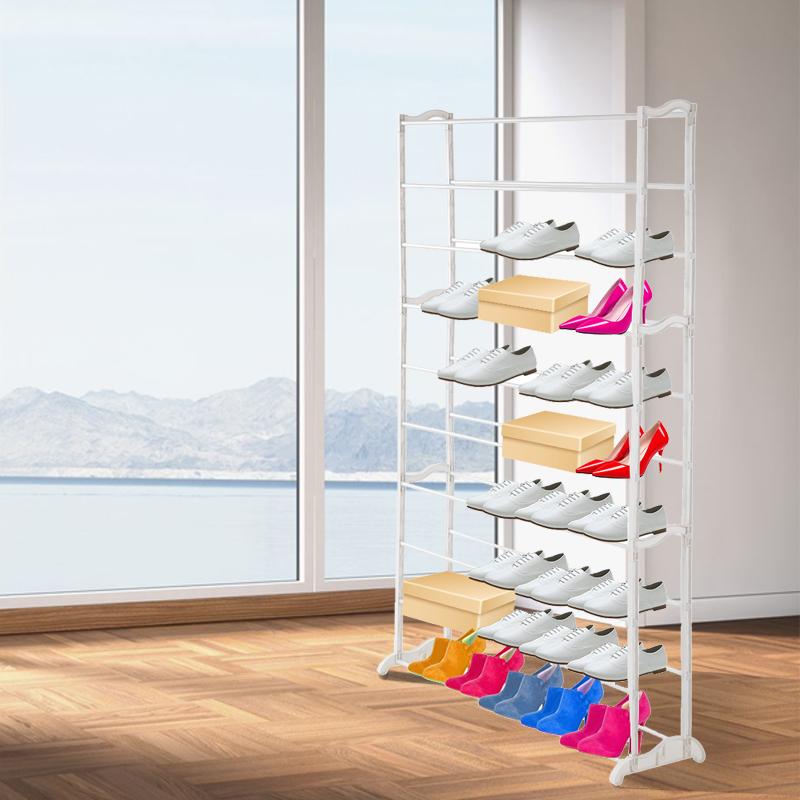 Schuhregal Schuhschrank Schuhablage Stoff Für 50 Paar Schuhe Ständer Weiß EM