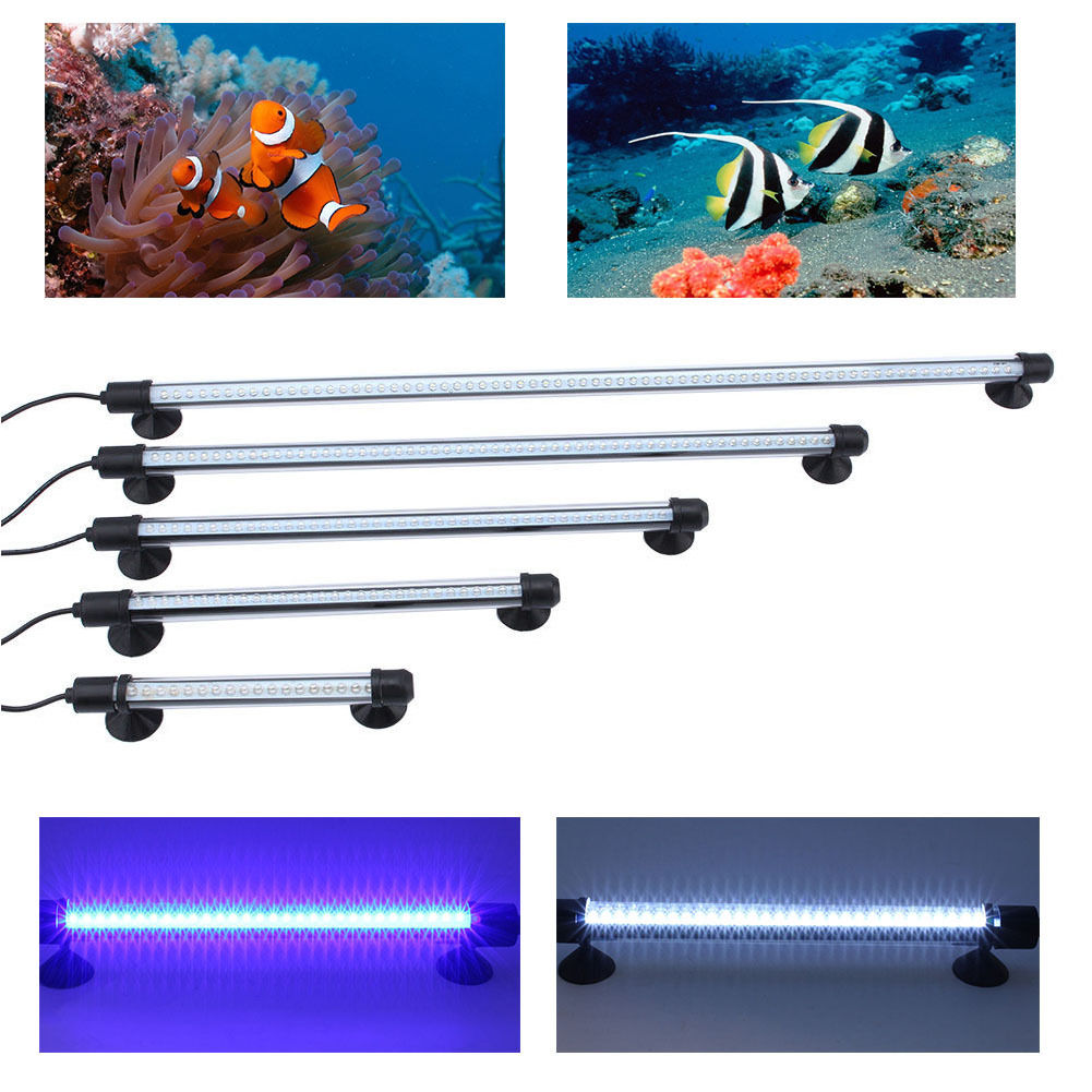 aquarium beleuchtung led aufsatzleuchte lampe wasserdicht aquariumlampe 18 62cm ebay. Black Bedroom Furniture Sets. Home Design Ideas