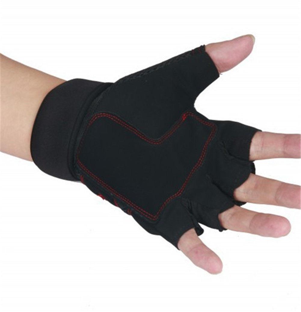 Weight Lifting Gym Gloves Workout Wrist Wrap Sports: Weight Lifting Gym Gloves Training Fitness Wrist Wrap