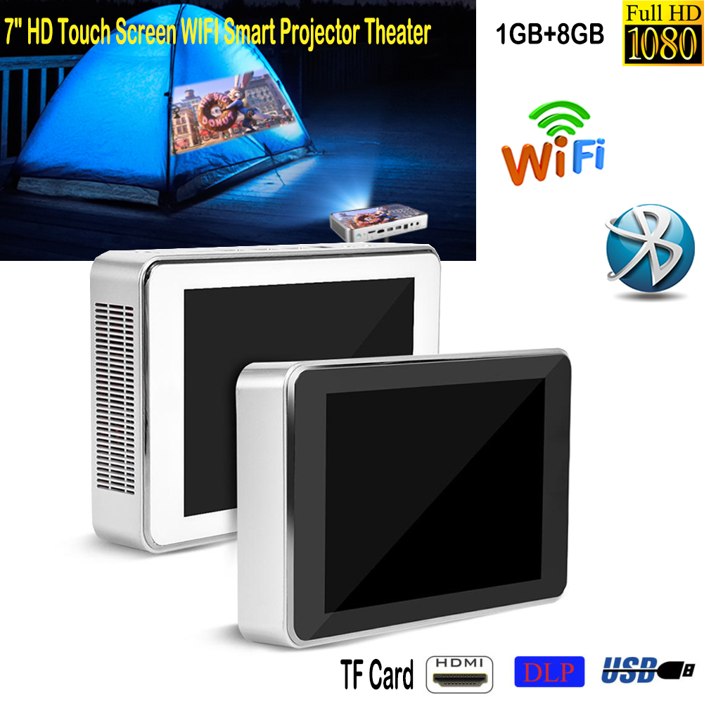 1080p Hd 7 Wifi Bluetooth 3d Dlp Projector Mp5 Player Touch Screen Dvr Block Diagram Printer 8000 Lumens Smart 2 In1 Pc Home