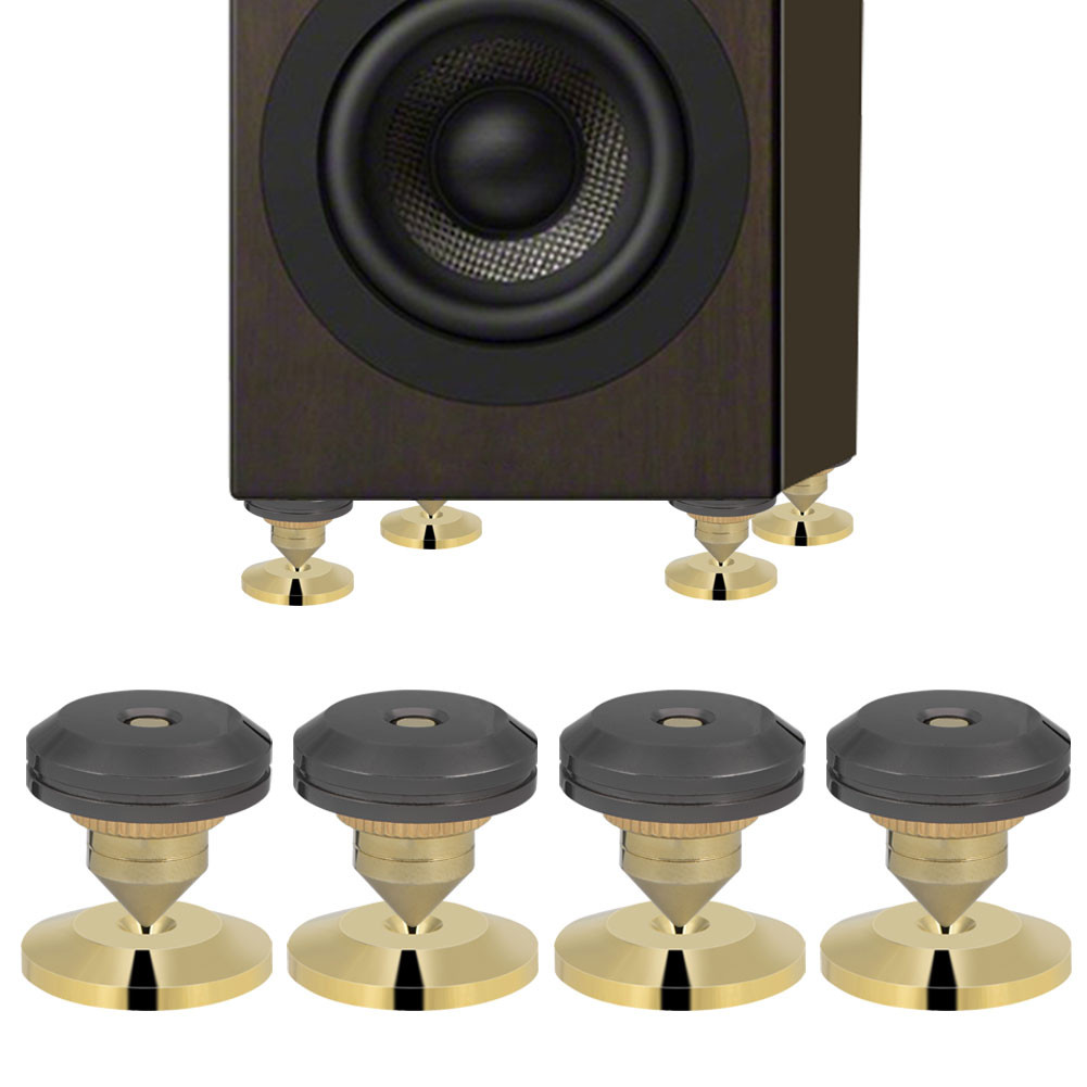 Details about 4Pcs Speaker Isolation Spikes Stand Feet HiFi AMP CD Cone  with Base Pads 28x25mm