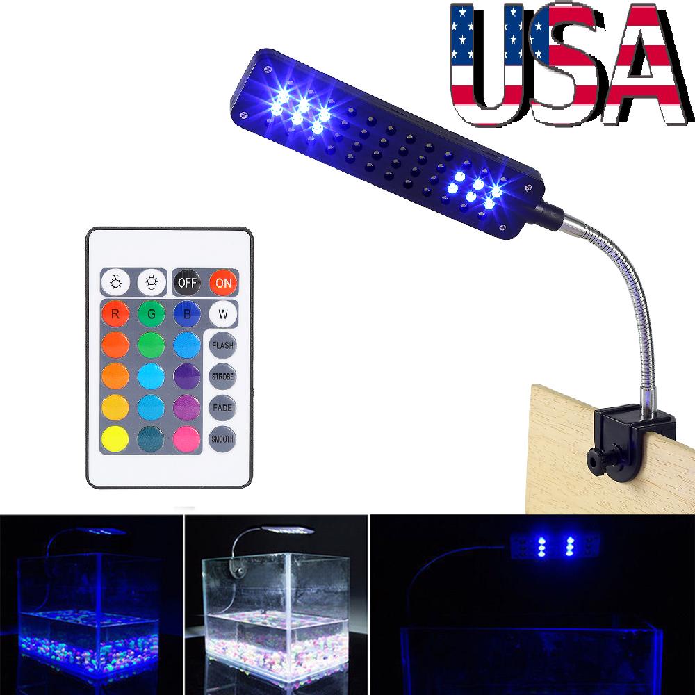 24//48 LED Aquarium Light Flexible Arm Clip on Plant Grow Fish Tank Lighting Lamp