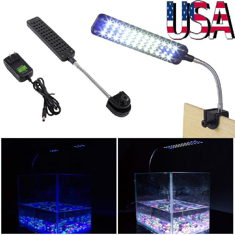 flexible 48 led aquarium light flexible arm clip on plant grow fish