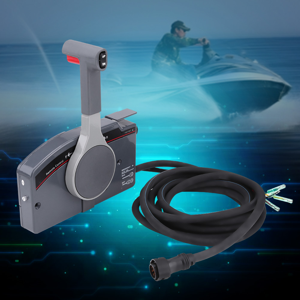Boat Outboard Remote Control Box For Yamaha 10Pin Cable 703-4825-16 ...