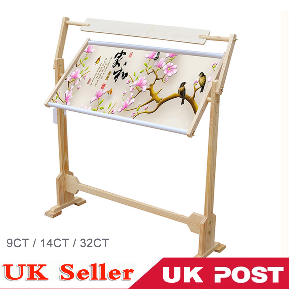 9-32CT Stand Lap Table Wood Embroidery Hoop Frame Cross Stitch ...
