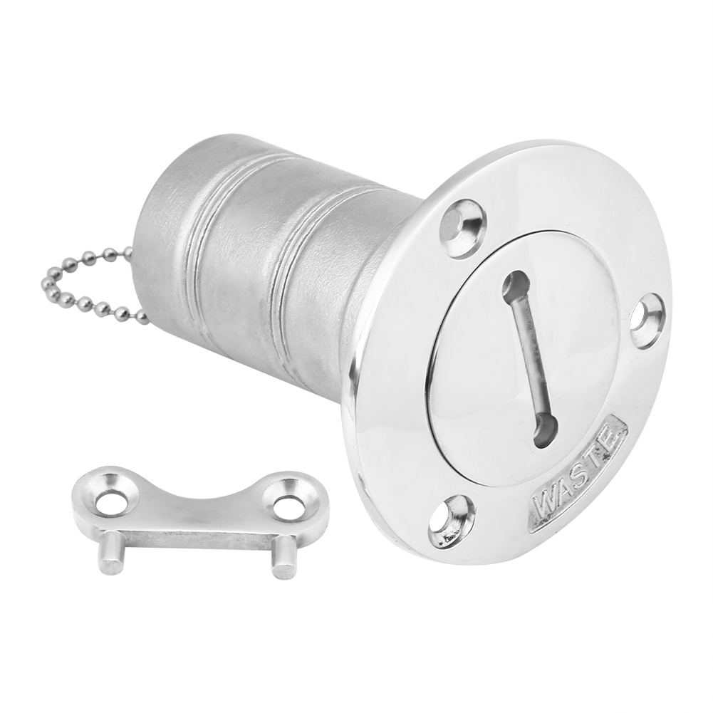 """Boat Waste Deck Fill Filler with Key 1-1//2/"""" Marine Grade 316 Stainless Steel"""