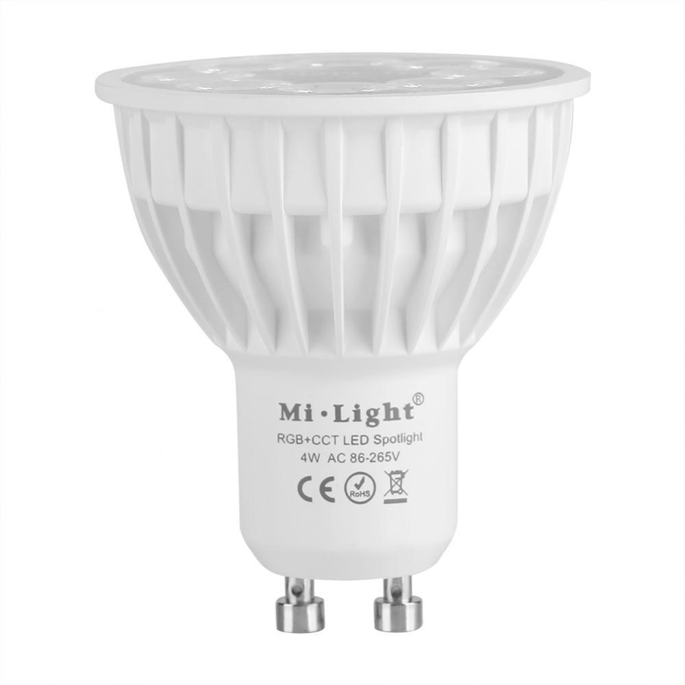 Milight-E27-GU10-4W-DEL-Lumiere-Reglable-Ampoule-sans-fil-RGB-CCT-Multi-couleurs