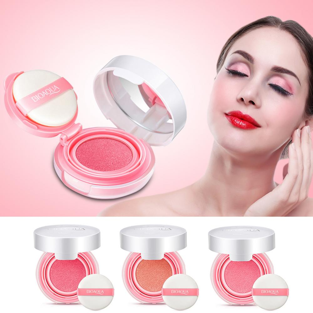 Bioaqua Air Cushion Blusher Bb Cream Powder Face Makeup Paste Nude Smoot Muscle Flawless Blush On Image Is Loading