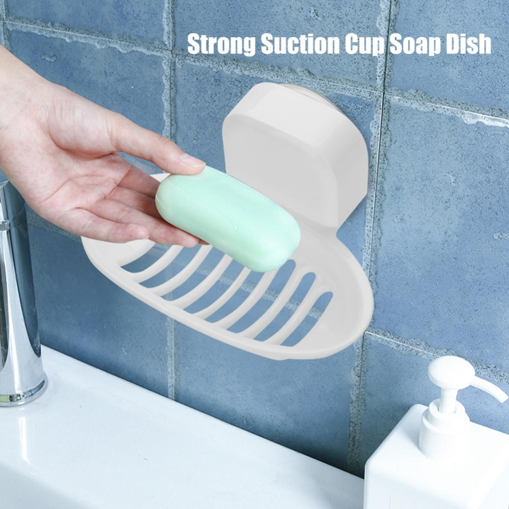 VACUUM SUCTION CUP Soap Dish Box Bathroom Wall Mounted Holder Toilet ...