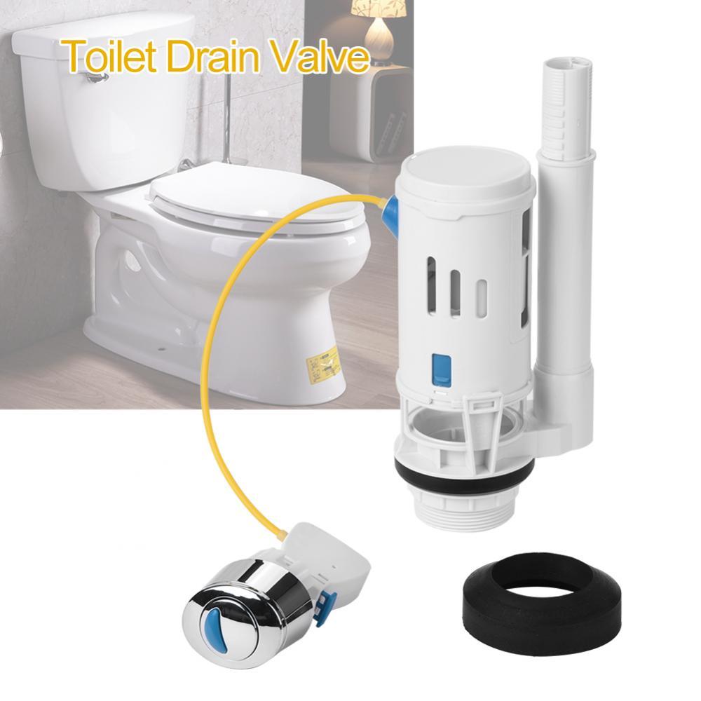 Toilette Kunststoff Doppelablass Ventil Montageventil Wassertank WC Bad Zubehör