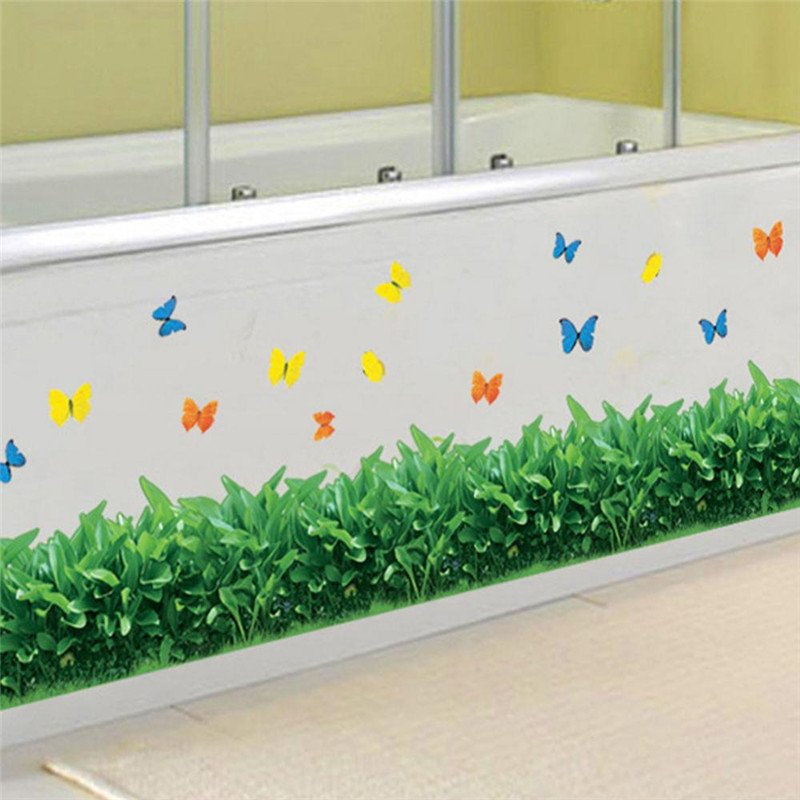 Removable-Grass-and-Flower-Wall-Sticker-Art-Vinyl-Decal-Mural-Home-Bedroom-Decor