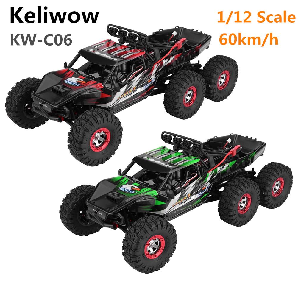 Keliwow 60km/h 1/12 2.4GHz 6 Wheels Crawler Climbing Brushless RC Car KW-C06