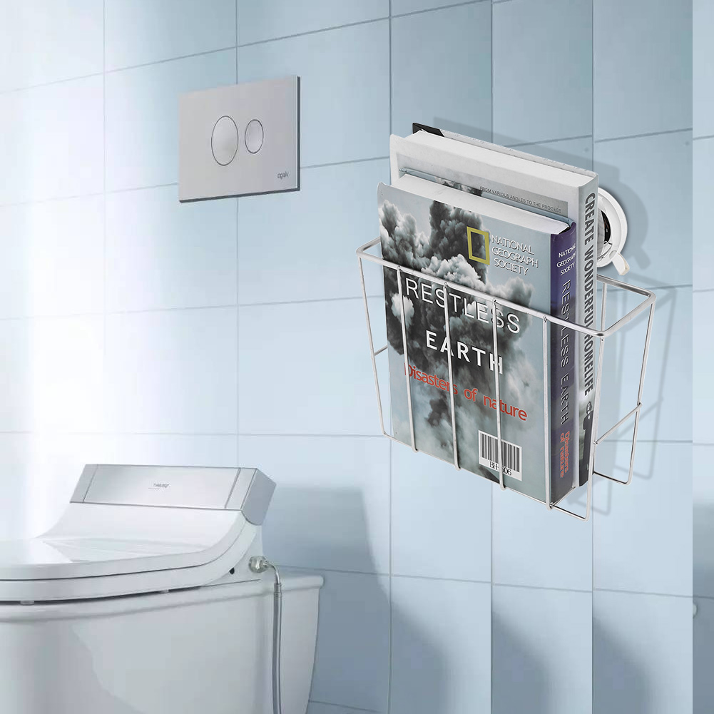 Industrial Wall Mounted Metal Wire Magazine Newspaper Rack Letter ...