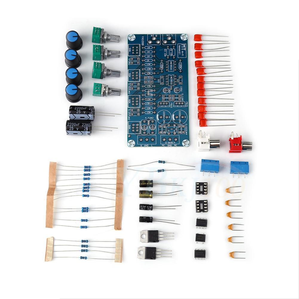 Double Track Hifi Ne5532 Preamplifier Volume Tone Control Board Hi Fi Module Lj