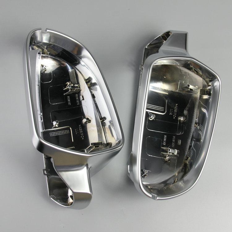 2x Matt Chrome ABS Side Mirror Cover Caps Shell Housing