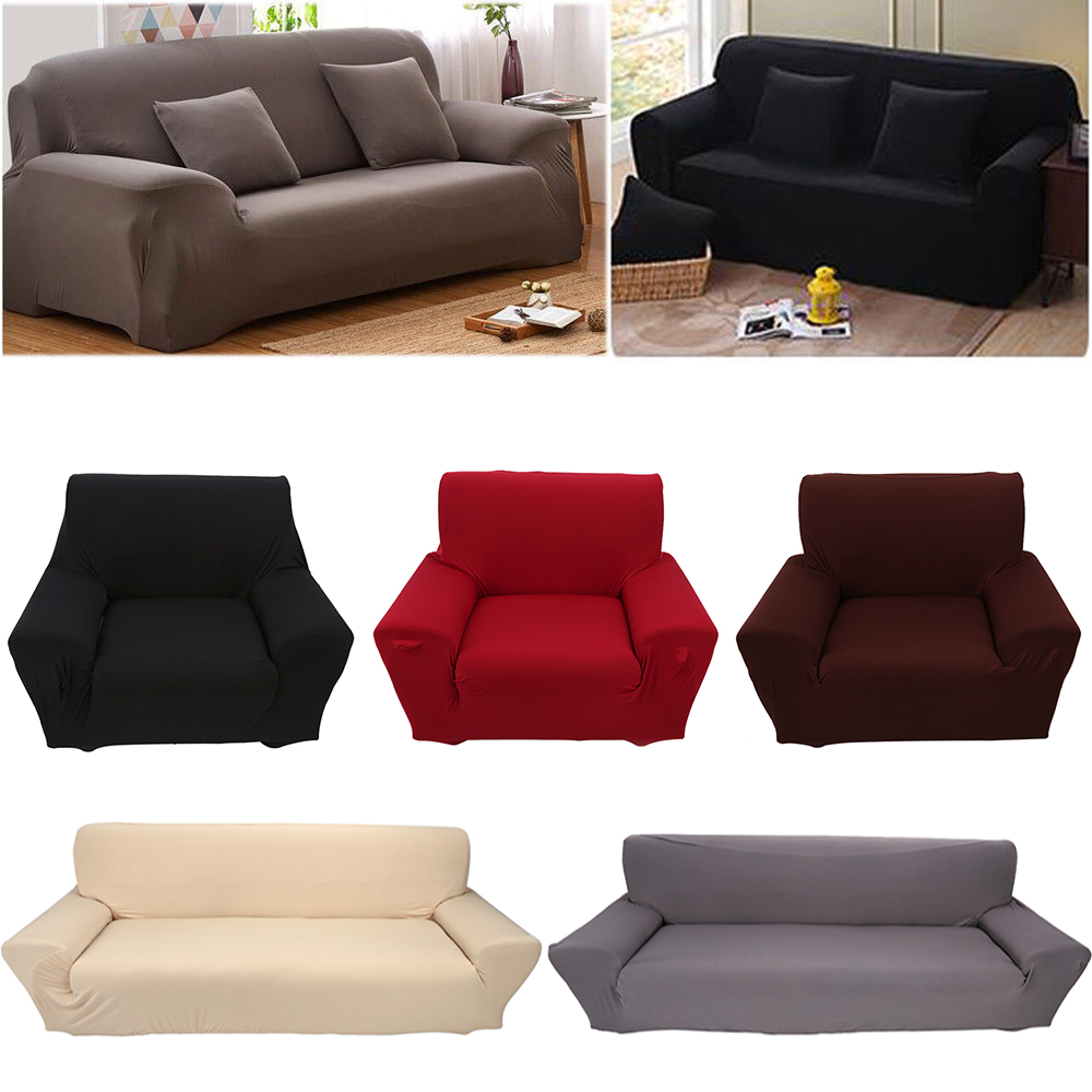 Details about 1 2 3 4 Seater Stretch Elastic Chair Sofa Loveseat Cover  Slipcover Furniture
