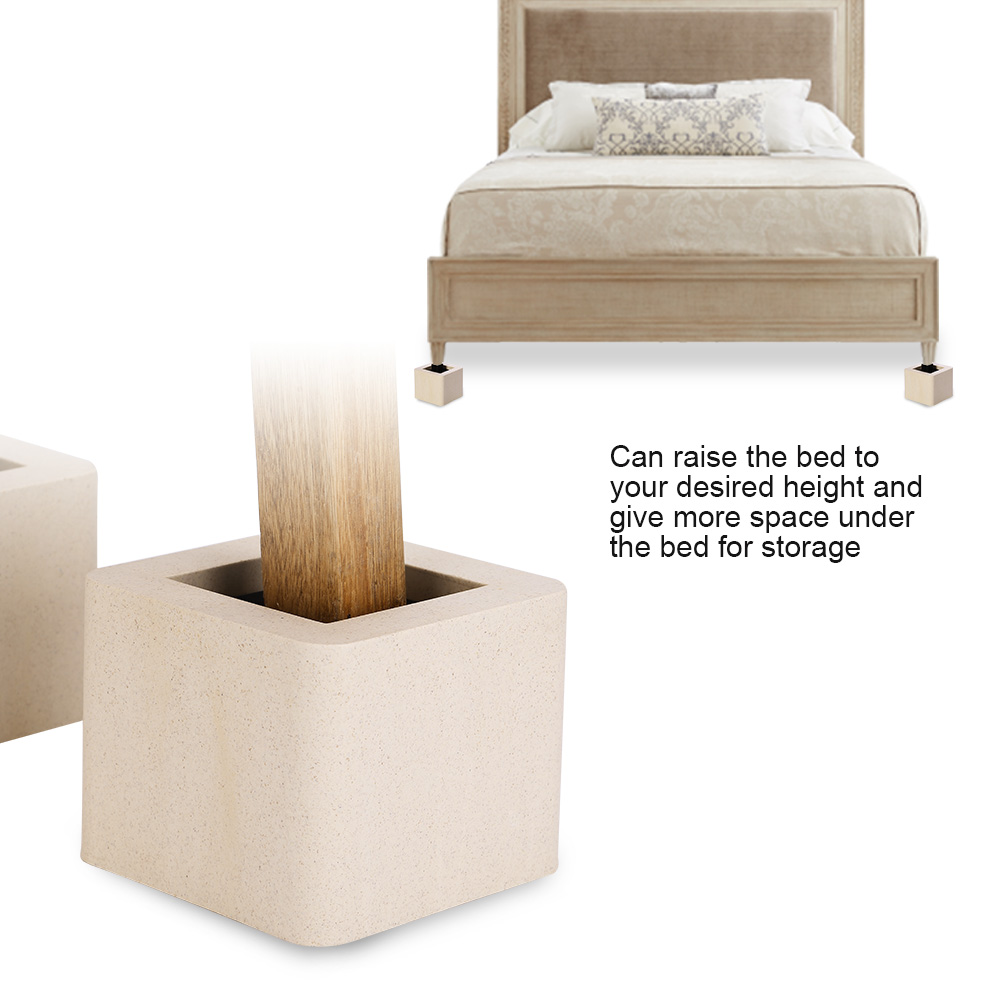 Set of 4 Furniture Risers Adjustable Sofa Bed Table Riser Lift Under ...
