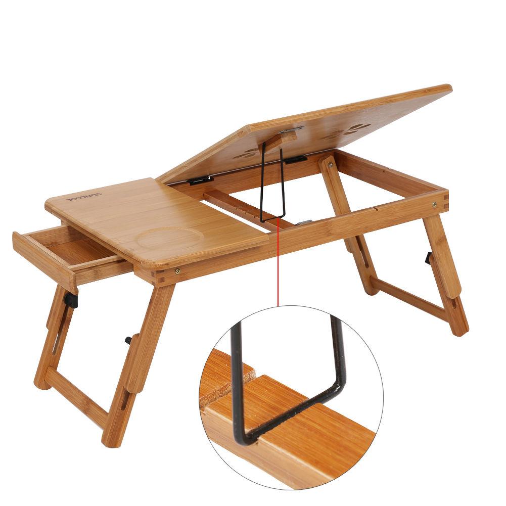 bambus laptoptisch notebooktisch betttisch faltbar laptop st nder klapptisch gb ebay. Black Bedroom Furniture Sets. Home Design Ideas