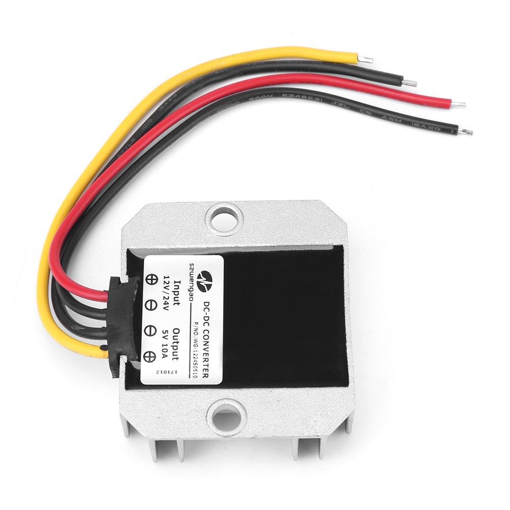 Waterproof Dc Buck Converter 12v 24v To 5v 10a Step Down Power Short Circuit Proof Regulated Supply Powersupply Module