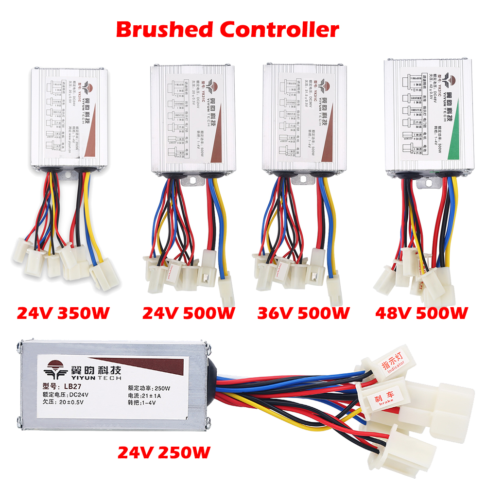 Details about 250W-1500W Electric Brushed Brushless Motor Controller for  E-bike Bike Scooter