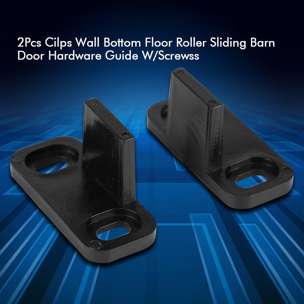 2Pcs Cilps Sliding Barn Door Hardware Wall Bottom Floor ...