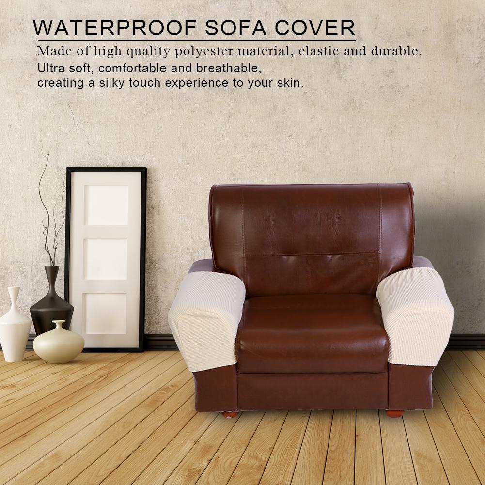 1 Pair Armrest Covers Chair Sofa Arm Protector for Single ...