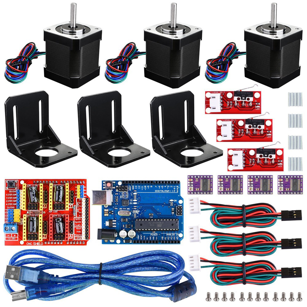 Details about CNC Shield Board Stepper Motor Limit Switch 3D Printer Module  Kit for Arduino JJ