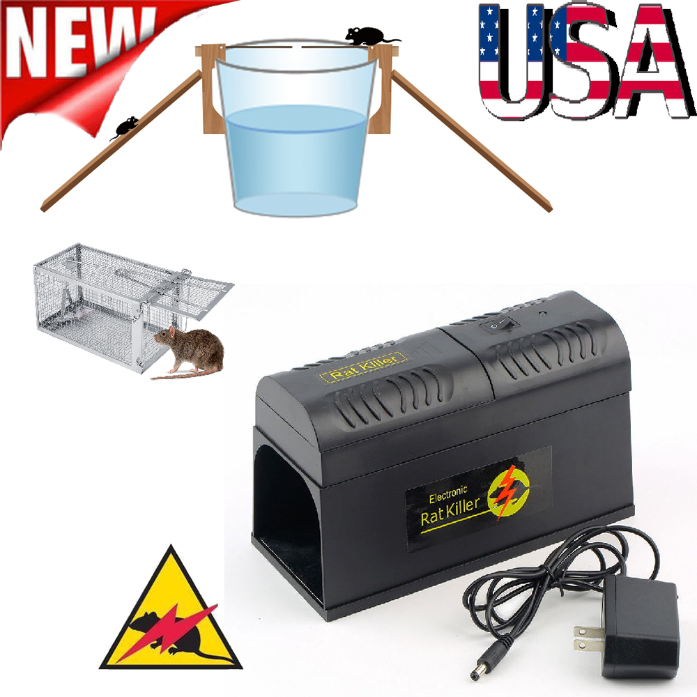 Electronic Mouse Trap Control Rat Killer Pest Electric Zapper Rodent Lot Cage Mice Catch