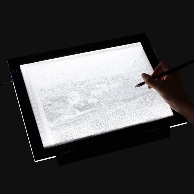 LED Leuchttisch Tablet Lichterkette Foto LED Tracing Light Box Schablone Rei/ßbrett Muster Art Design Light Pad Board f/ür Kunst Kunsthandwerk Design Zeichnung Stenciling T/ätowierung und Fotoarbeit A3